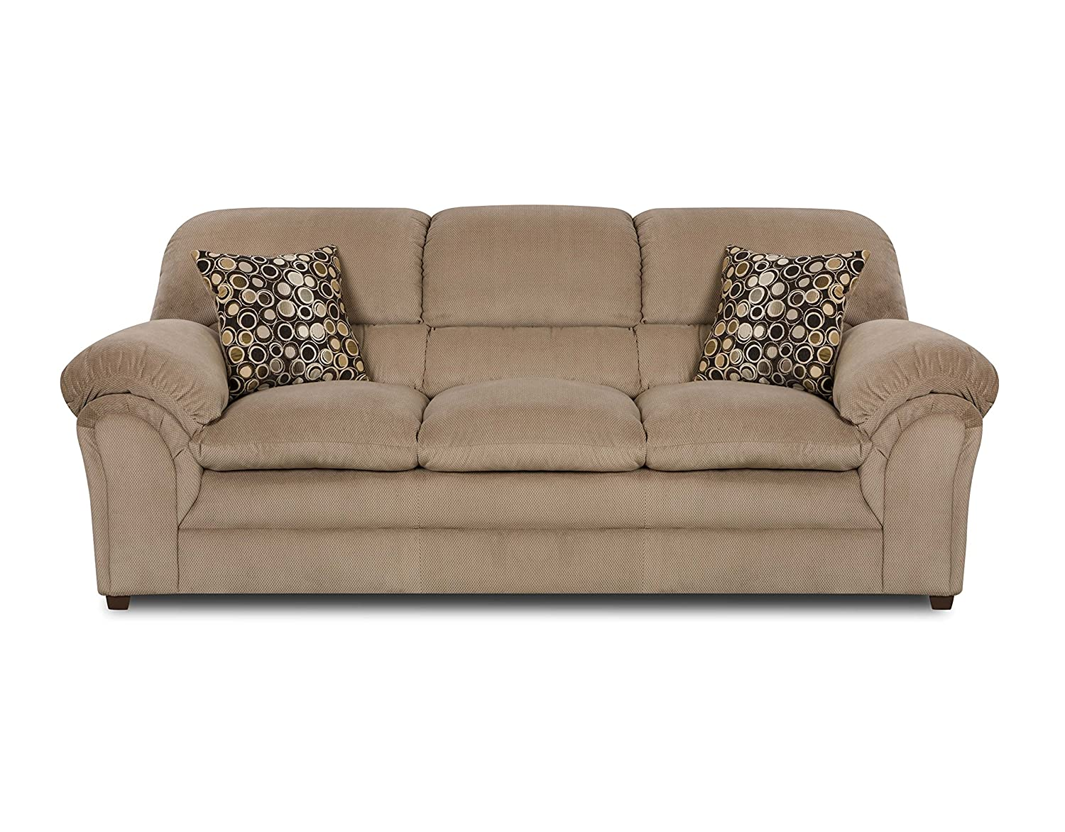 Simmons Upholstery 6150-03 Harper Cocoa Sofa