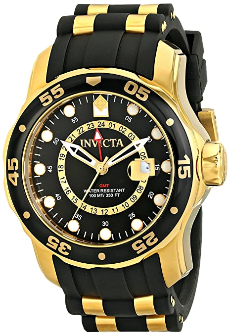 Invicta-Men-s-6991-Pro-Diver-Collection-GMT-Black-Dial-Black-Polyurethane-Watch