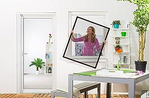 Insektenschutz Fenster Fliegengitter 120 x 140 cm 3er Set braun  BaumarktKundenbewertung und Beschreibung