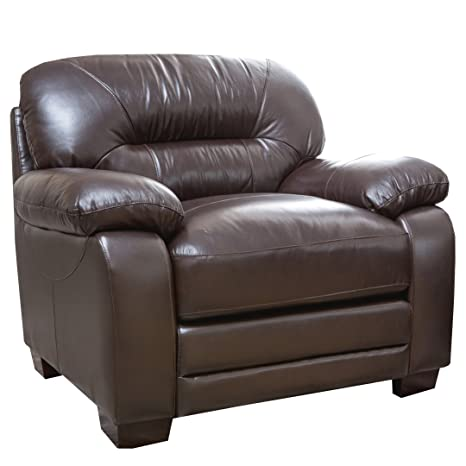Abbyson Living Hollywood Italian Leather Armchair