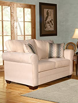 Chelsea Home Furniture Vicki Loveseat, Sagittarius Pearl/Wow Spa Pillows
