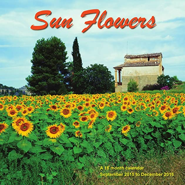 Cheapest copy of sunflowers calendar 2016 wall calendars for Gardening 2016 calendar