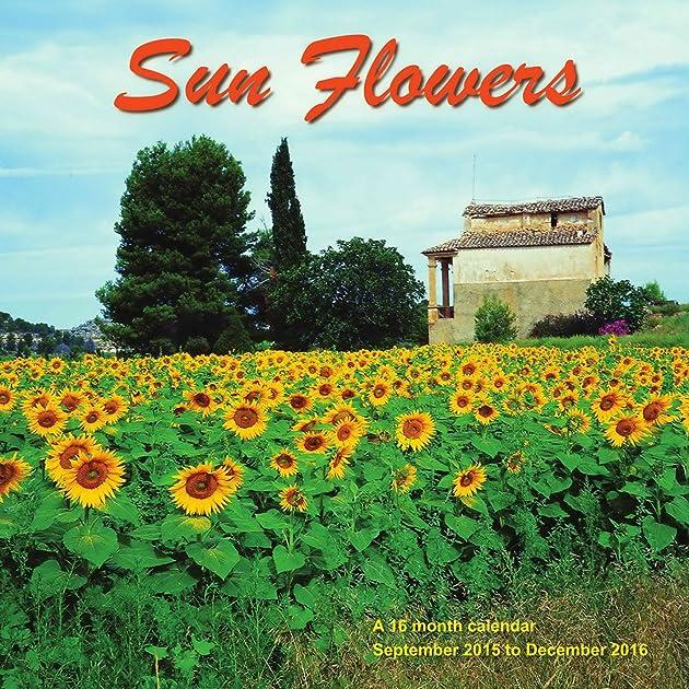 Cheapest copy of sunflowers calendar 2016 wall calendars for Gardening 2016 calendar