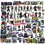 JTL 90pcs Fortnite Vinyl Stickers Decals for Laptop Window Notebook MacBook Pro iPad PC,Car Bicycle Luggage Sticker Set