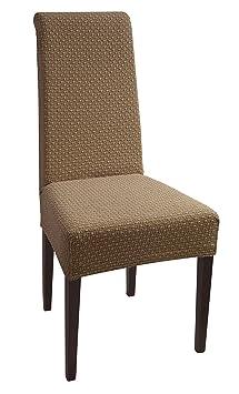 Jacquard housse de chaise chaise lastique set de 2 for Housse de chaise elastique