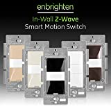 GE Enbrighten Z-Wave Plus Smart Motion Light Switch, Compatible with Alexa, Google Assistant, SmartThings, Wink, Zwave Hub Required, Repeater/Range Extender, 3-Way Compatible, Black, 35547 (Color: Black, Tamaño: Switch)