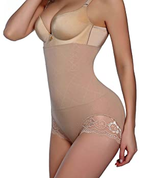 dac94f730f Gotoly Invisable Strapless Body Shaper High Waist Tummy Control Butt Lifter  Panty Slim (M L