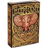 ELEPHANT PLAYING CARDS, Premium Deck of Cards, Cool Intricate Detail, Best Poker Cards, Unique Bright Rainbow & Red Colors for Kids & Adults, Playing Card Decks Games, Standard Size (Color: Desert)