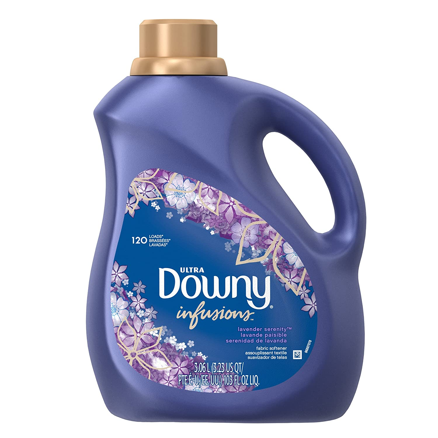 Downy Infusions Liquid Fabric Softener, Lavender, 103 Fluid Ounce