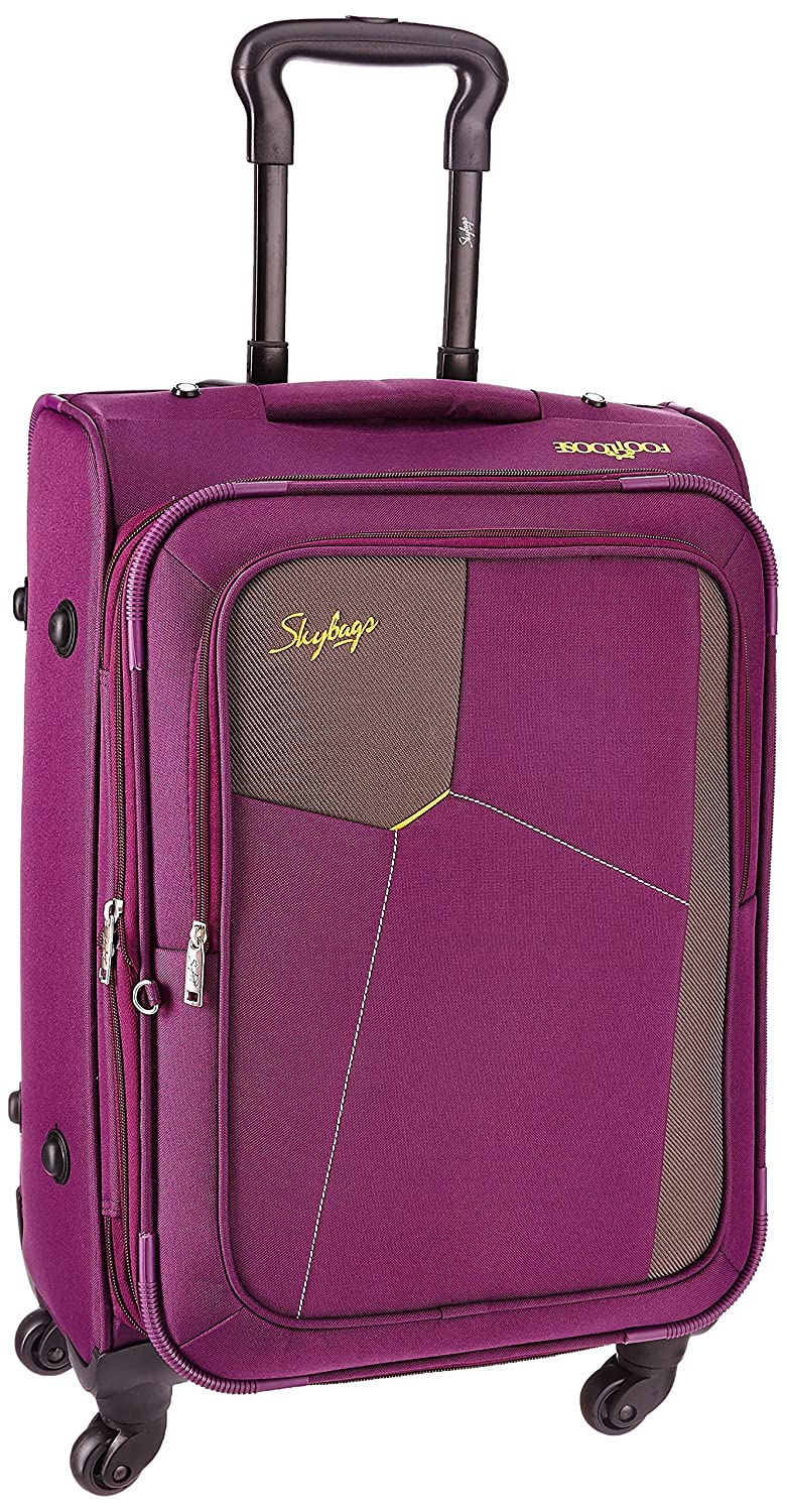Skybags Rubik Polyester 58 cms Purple Softsided Suitcase low price