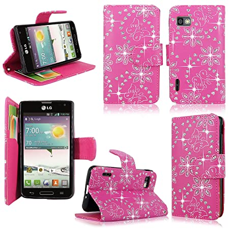 LG Optimus F3 Cute Case (pink glitter)