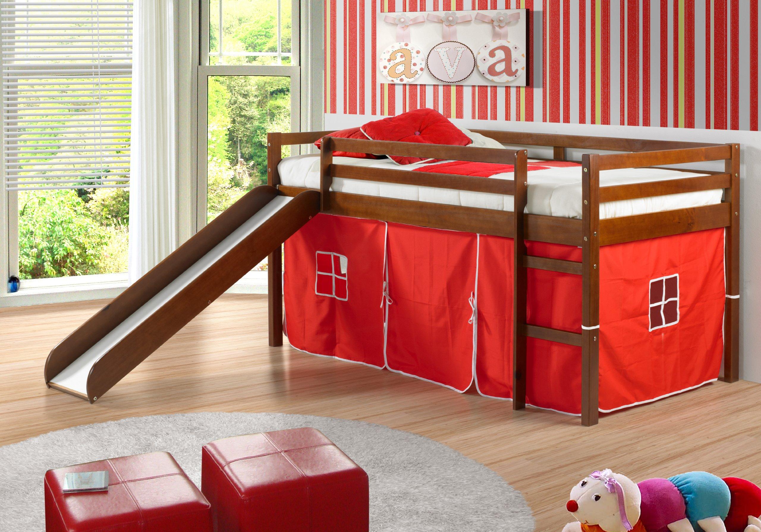 Kids Twin Loft Bed With Slide