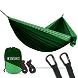 Bear Butt #1 Double Hammock, A Start Up Company with Top Quality Gear at Half the Cost of the Other Guys, Dark Green/Light Green