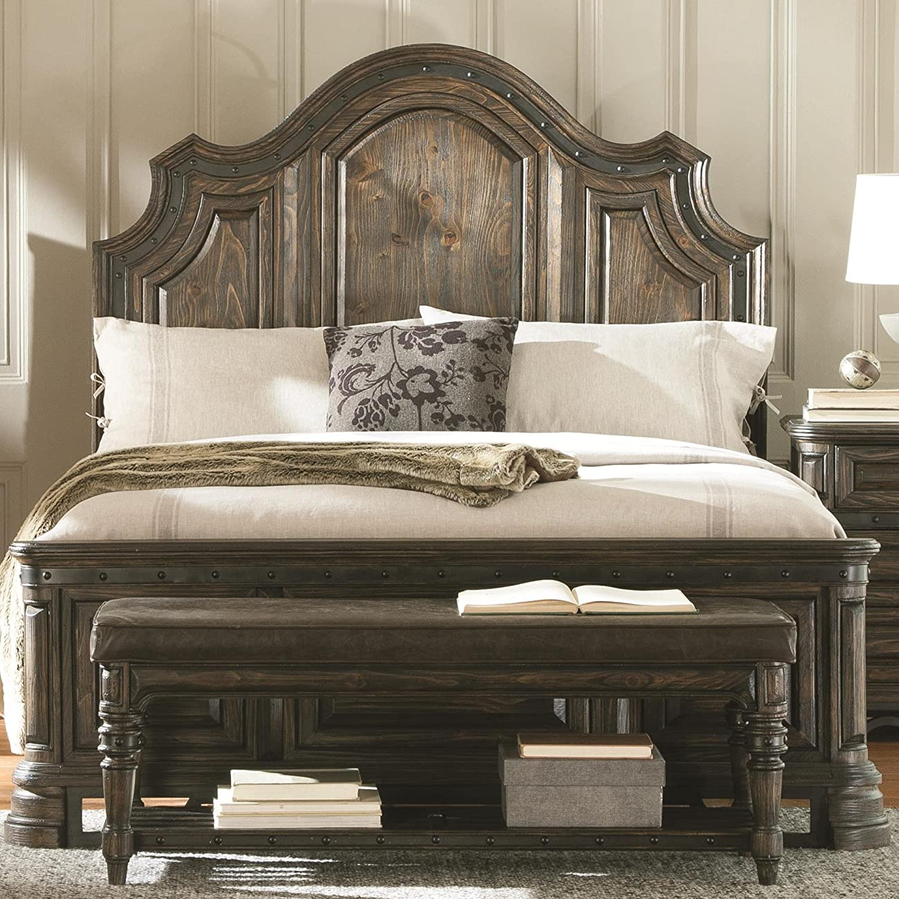 Coaster Carlsbad King Panel Bed in Vintage Espresso 0