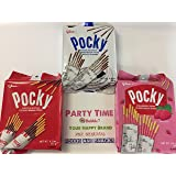 Japanese Snacks Glico Pocky Chocolate Biscuit Stick, family 9 Packs Party Pack (3 packs) (Tamaño: 3 packs)