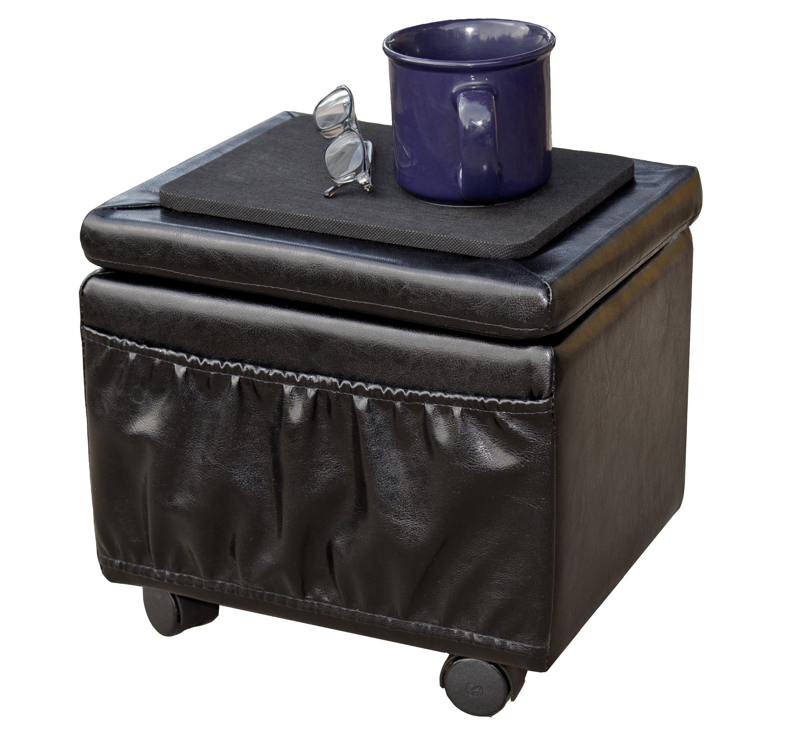 Paris Furniture Wheeled Storage Ottoman