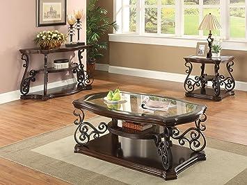 Coaster Home Furnishings Traditional Coffee Table, Dark Brown