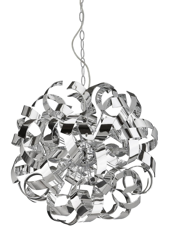 Briloner Leuchten Pendelleuchte 4 Flammig Spiralen Kunststoff