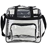 Eastsport Clear NFL Stadium Approved Tote, Black