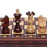 European International Chess Game Set, 21.7 Inches, Ambassador