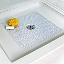 Deluxe Square Shower Mat (Clear Square)