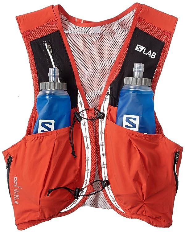 9142889b02c Salomon Unisex S/Lab Sense Ultra 8 Set Hydration Vest, Racing Red, Medium  (Color: Racing Red, ...