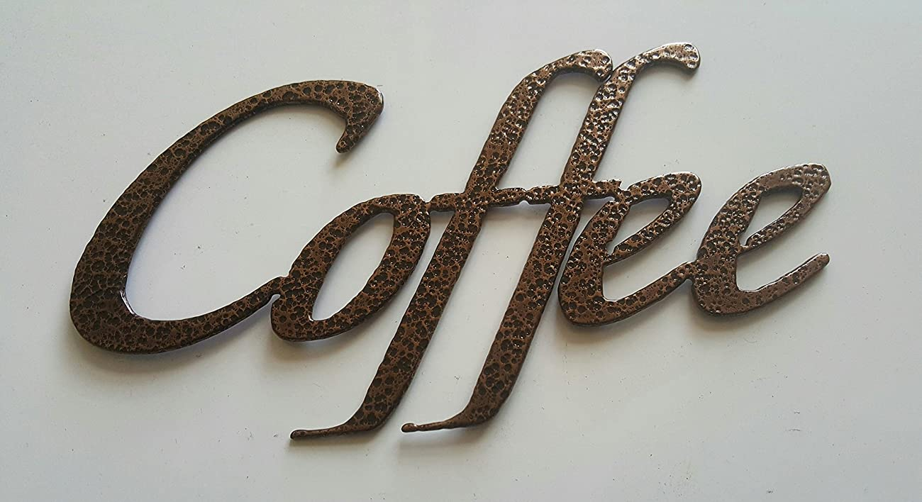 Coffee Word Kitchen/Home Decor Metal Wall Art 0