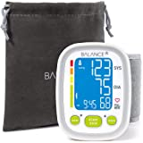 Balance Wrist Blood Pressure Monitor from GreaterGoods, Ultra Portable High Accuracy Readings with Easy-to-Read LCD, Two User Support and 2-Year Warra