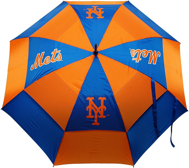 MLB New York Mets Umbrella, Orange simulation mini golf course display toy set with golf club ball flag