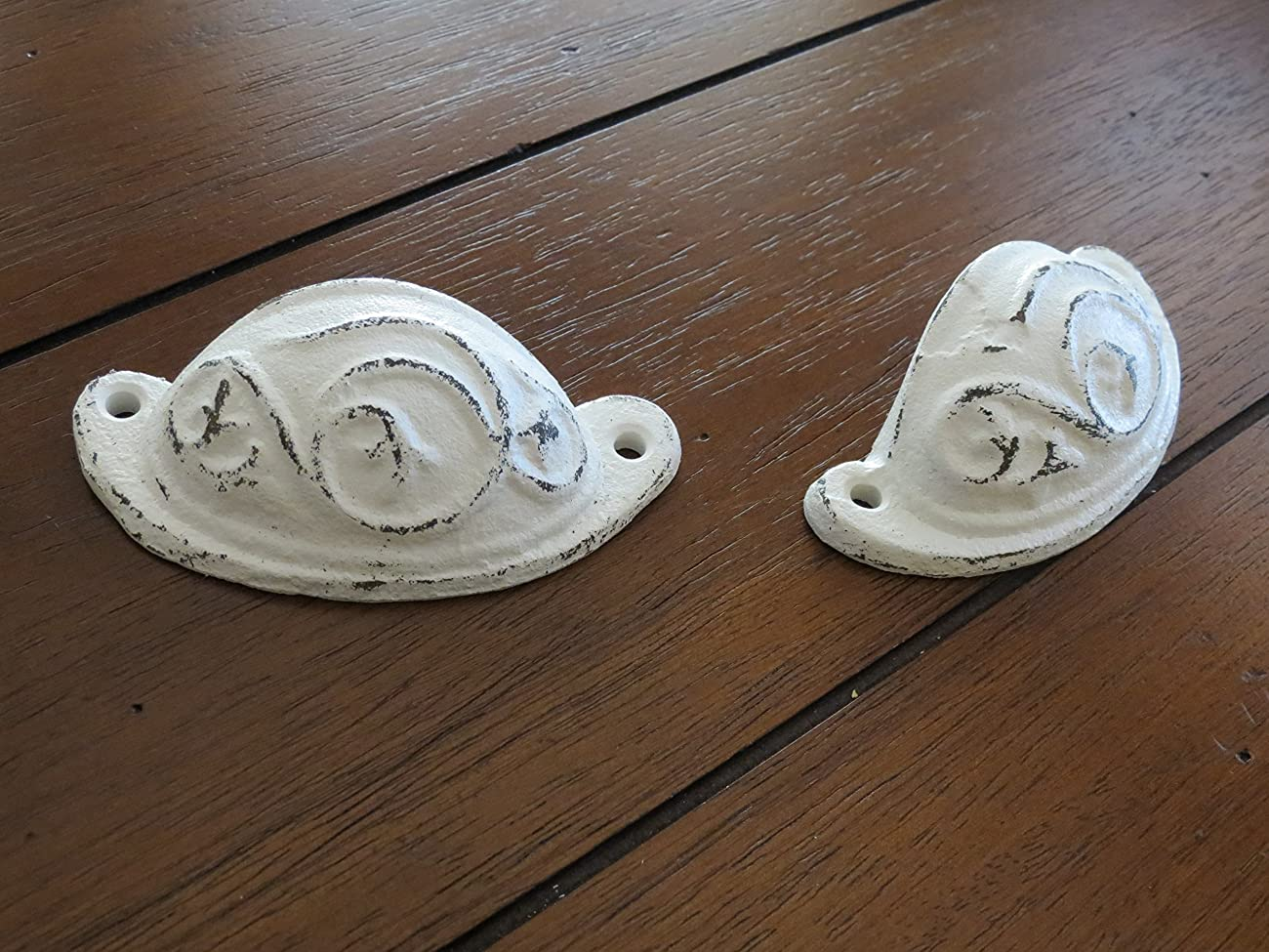 Dresser or Cabinet Knobs / Cast Iron Pulls / Antique White or Pick Color / Vintage Style Handles	 1