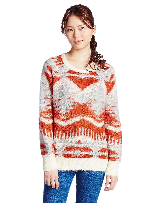 Amazon.co.jp: (リリーブラウン)Lily Brown オルティブ柄ニットプルオーバー LWNT145142 32 YEL F: 服&ファッション小物通販