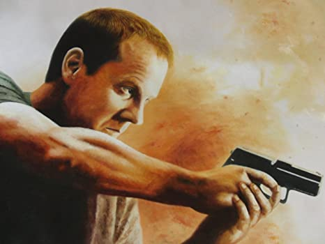 24: Jack Bauer pintura al óleo. 40 x 28 pulgada. Con esta versión de pintura al óleo. No es una impresión Giclée/Póster, NO un cartucho de tinta en la vista!