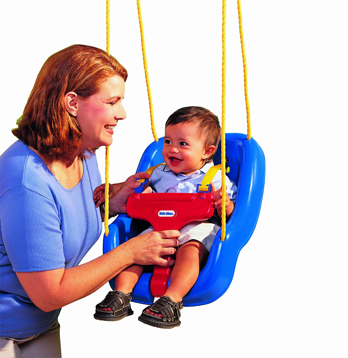 An Image of Little Tikes 2-in-1 Snug 'n Secure Swing Blue