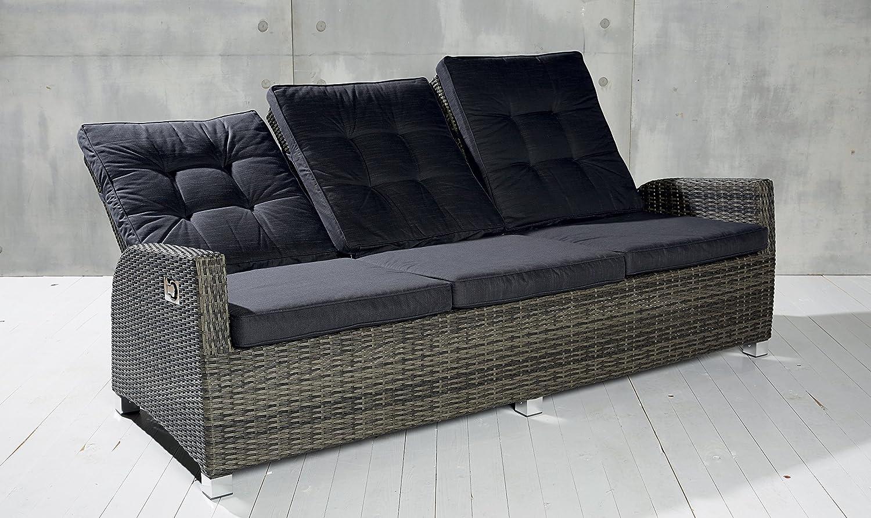 Luxus Dreisitzer Saint-Tropez grau Rocking Chair Sofa verstellbare Rückenlehne jetzt kaufen