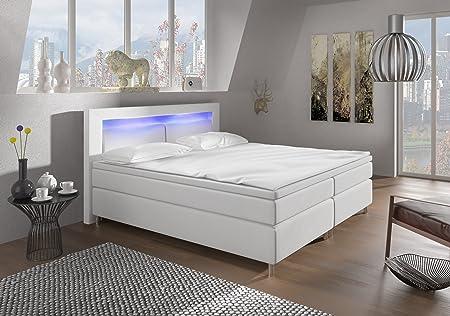 Design Aspect Boxspring con listones cromados cama modelo Alpha Type 1cromado, BITTE NACH DER BESTELLUNG MITTEILEN!, 160 x 200 cm