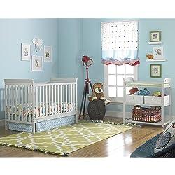 6 Piece Fisher-Price Nursery Furniture Bundle - Misty Grey