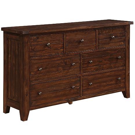 Modus 9CR182 Cally Solid Wood Dresser, Antique Mocha