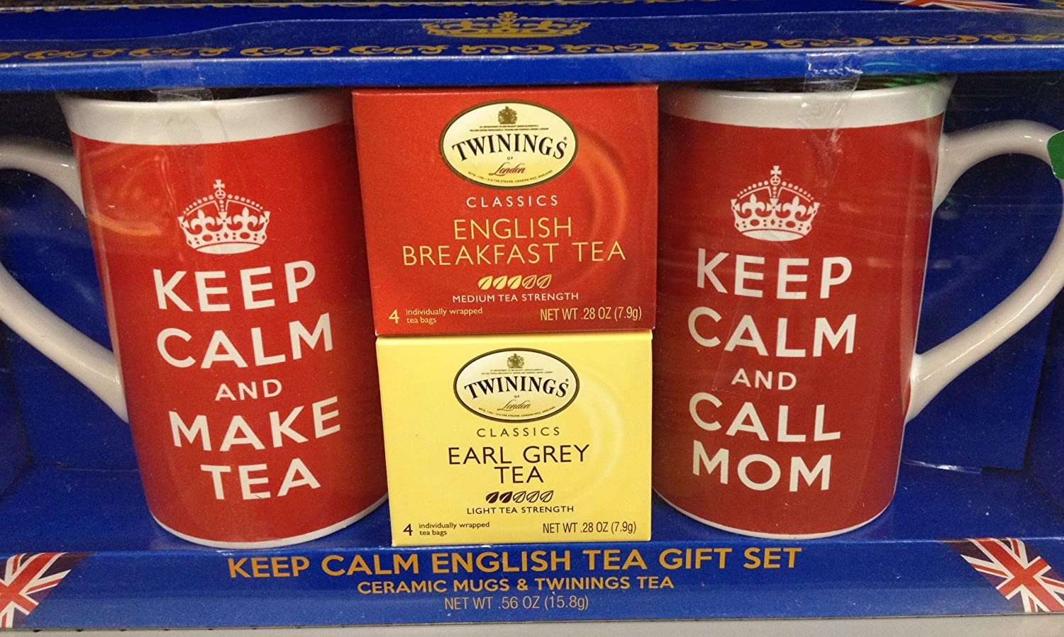 Twinings Tea Keep Calm Call Mom Holiday Gift Set