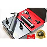 NEW! STUDENT HOME USE ENT OTOSCOPE KIT/SET LED OTOSCOPE 3.5v + BULB + SPECULA BLACKOTOSCOPE SET(CYNAMED) (Color: Black)