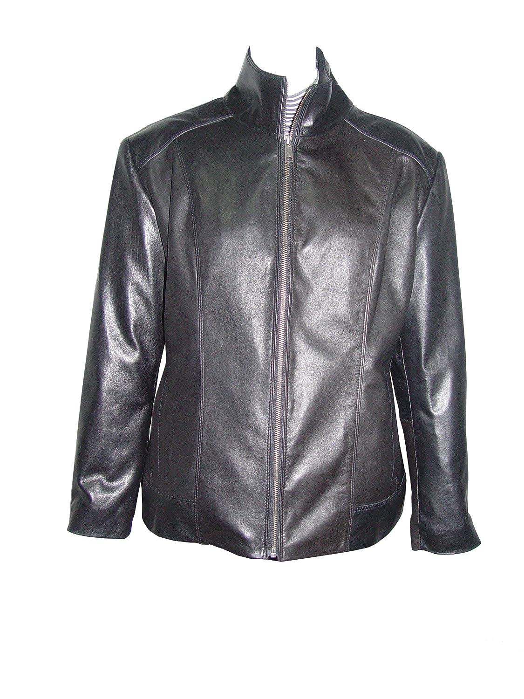 Nettailor WoHerren Plusgr??e 4198 weich Leder neu l?ssig Motorradfahrer JackeRei?verschluss Front jetzt kaufen
