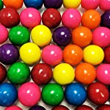 Large 1 Assorted Colored Gumballs - 2 Pound Bags - About 120 Gumballs Per Bag - Includes How to Build a Candy Buffet Guide