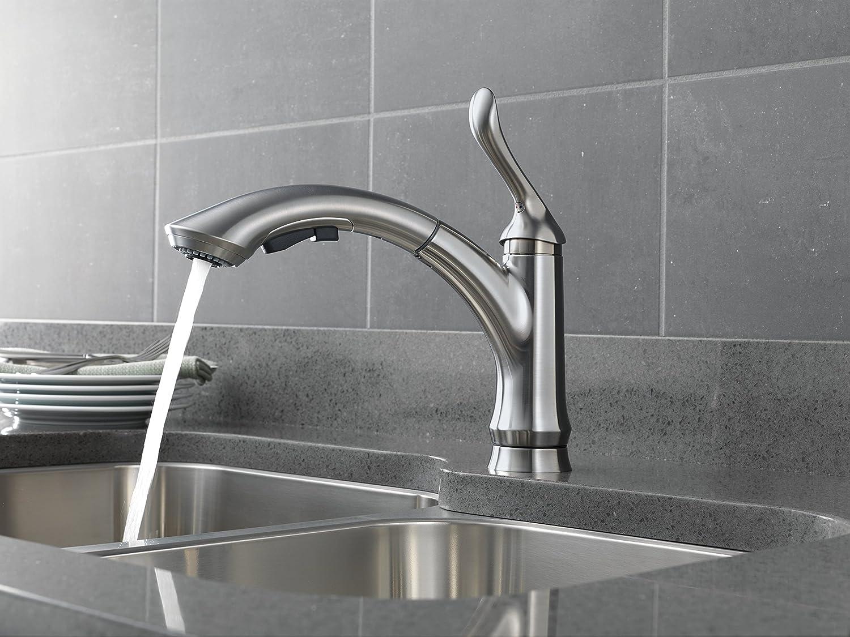 Delta Faucet 4353-AR-DST Linden Water-Efficient Pull-Out Kitchen Faucet