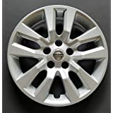 MARROW One New Replacement Fits 2013 2014 2015 2016 Nissan Altima Style 16' Wheel Cover Hubcap,10 Spoke, Silver, Plastic, Bolt On (Color: SILVER, Tamaño: 16