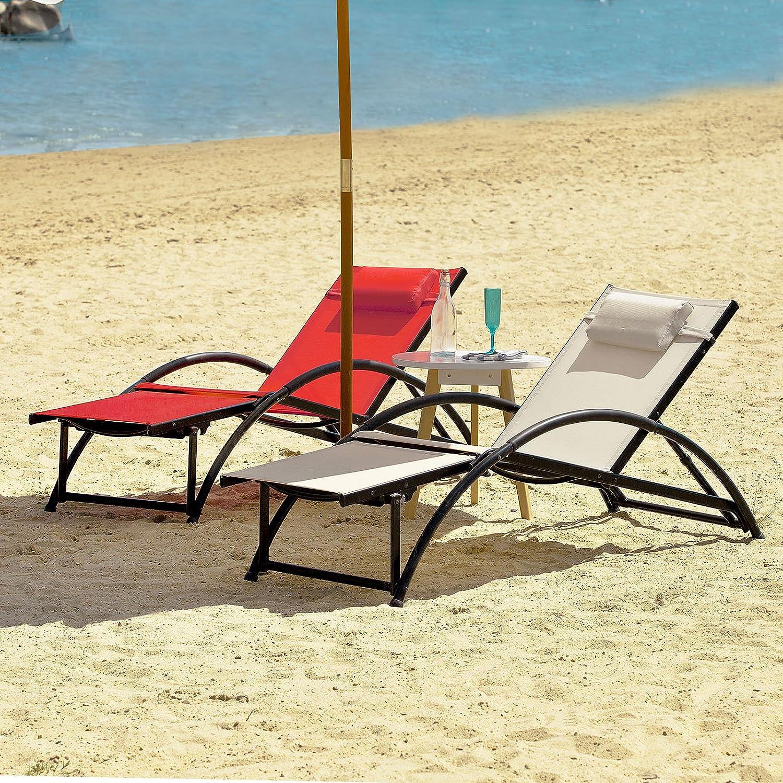sobuy relaxliege sonnenliege gartenliege liegestuhl ogs21 sobuy shop. Black Bedroom Furniture Sets. Home Design Ideas