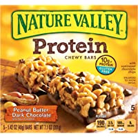 6-Pack Nature Valley Chewy Protein Bar 5-Count Boxes (30 bars total) in Peanut Butter Dark Chocolate