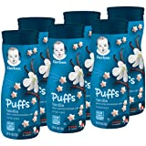 Gerber Puffs Cereal Snack, Vanilla, 1.48 Ounce (Pack of 6) (Tamaño: 6 Count)