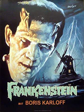 Frankenstein Boris Karloff 27x36 Movie Poster Degen Art