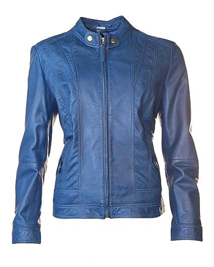 JCC Lederjacke, Damen 40365 (Blau)