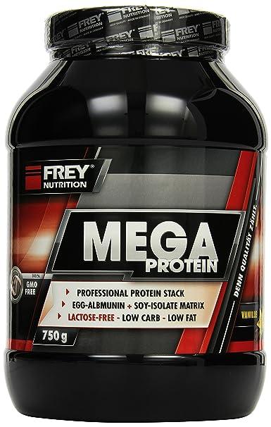 Frey Nutrition Mega Protein Vanille Dose, 1er Pack (1 x 750 g)