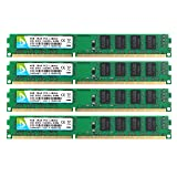 DUOMEIQI DDR3 Ram 16gb,(4X4GB) DDR3 Ram PC3-12800 PC3 12800u DDR3 Udimm 2Rx8 PC3 DDR3 1600 12800U DIMM 240pin CL11 1.5v Non-ECC Unbuffered Desktop Memory RAM Module Chips System for Intel AMD (Color: 4X4GB Small Board, Tamaño: Small Board)